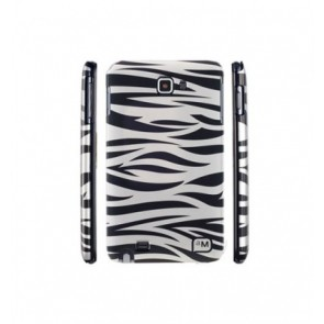 SAMSUNG Note Hard Case Zebra, Blanc